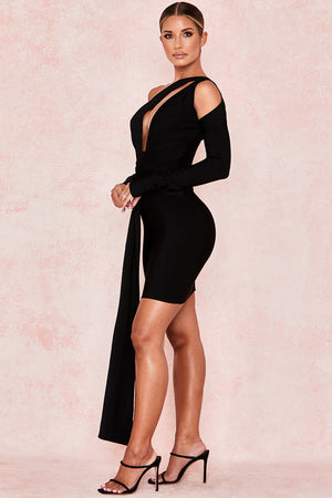 draped cutout dress
