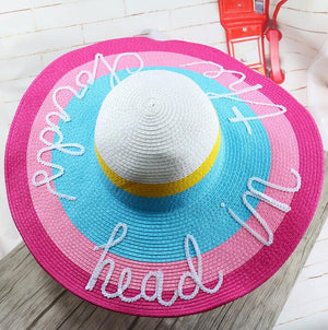 head in the clouds straw sun hat