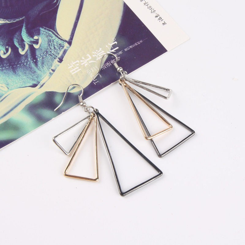 Unina Triangle Dangle Earrings