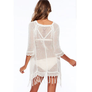 bahama mesh cover up white