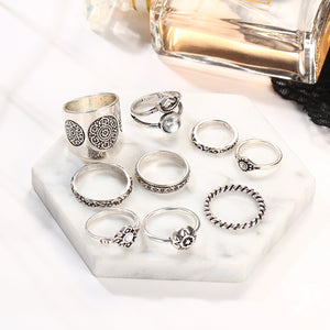 Bianka Gypsy Ring Set-Silver