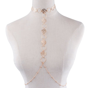 Wild Rose Body Chain Necklace