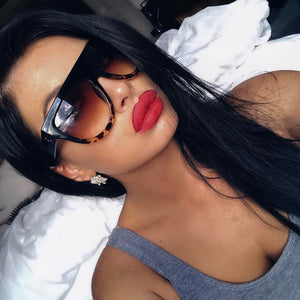 flat top gradient sunglasses