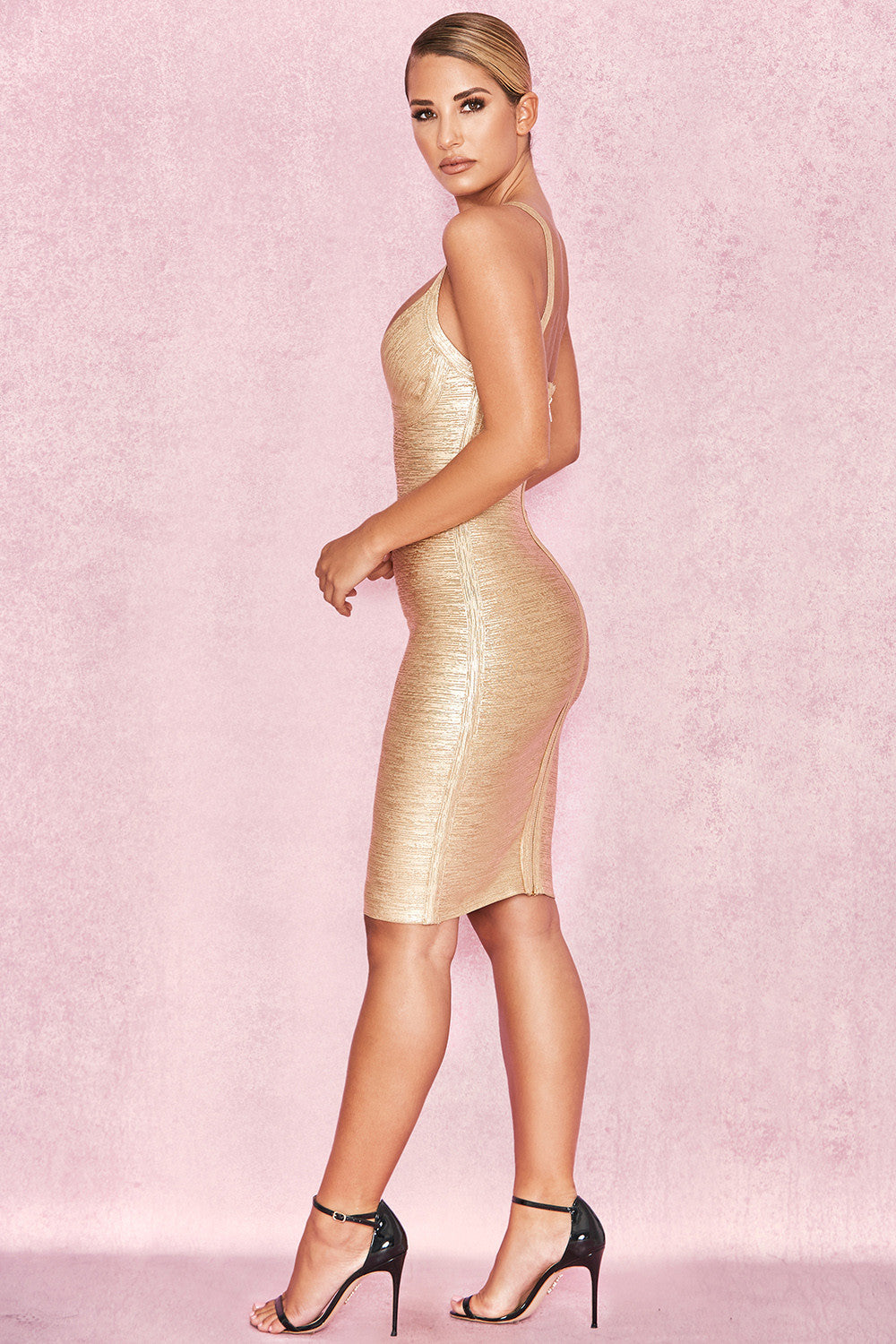 gold event dress