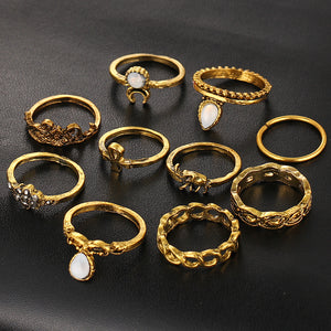gold knuckle ring set