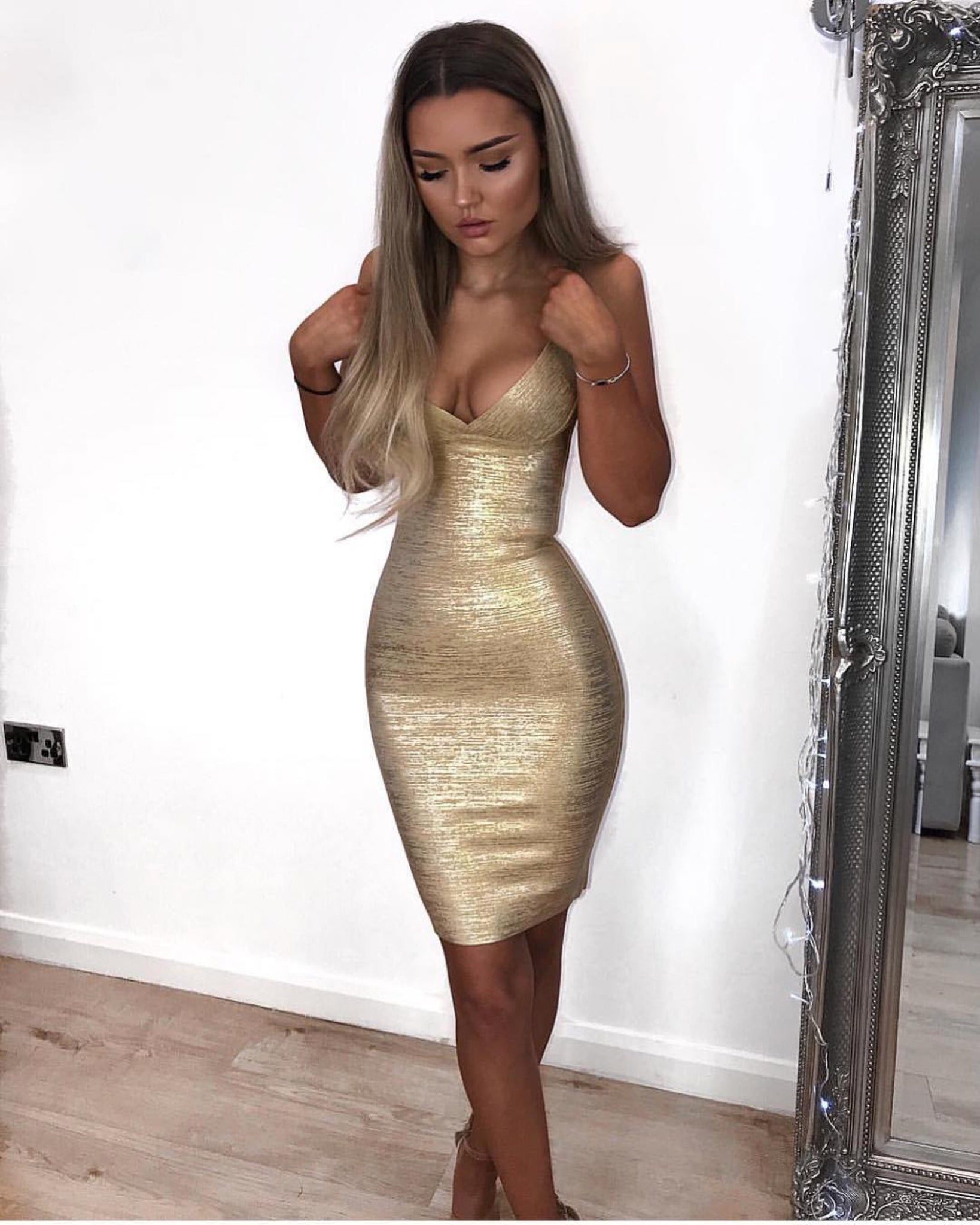 gold nye dress