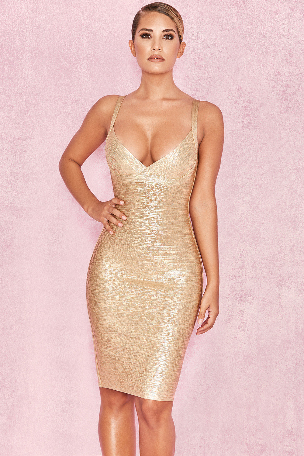 gold occasion dress