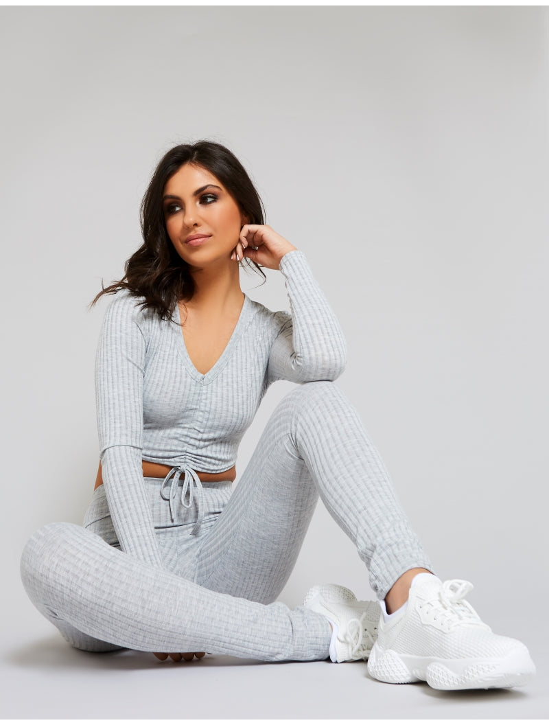 gray loungewear set