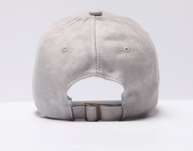 grey suede hat
