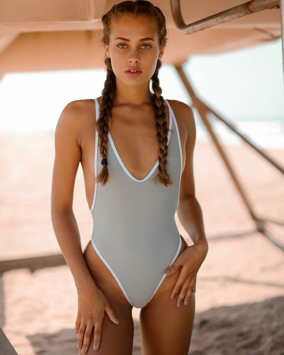 janelle gray one piece thong swimsuit