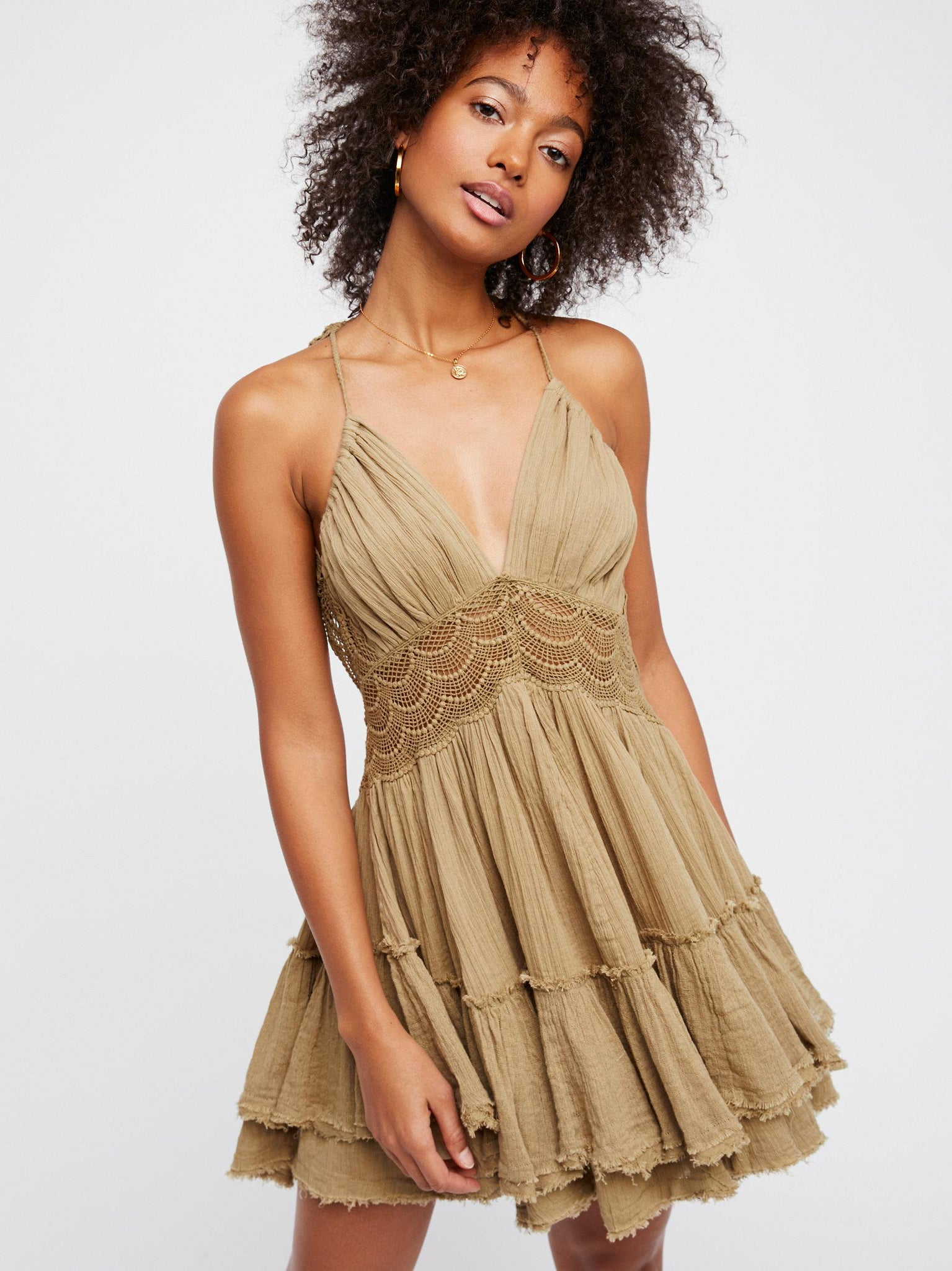 khaki summer dress