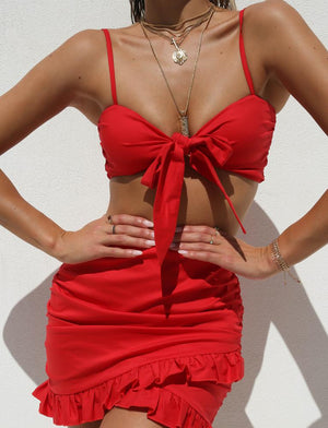knot front two piece set