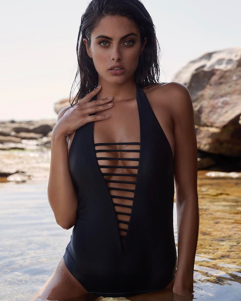 lana black one piece swimsuit