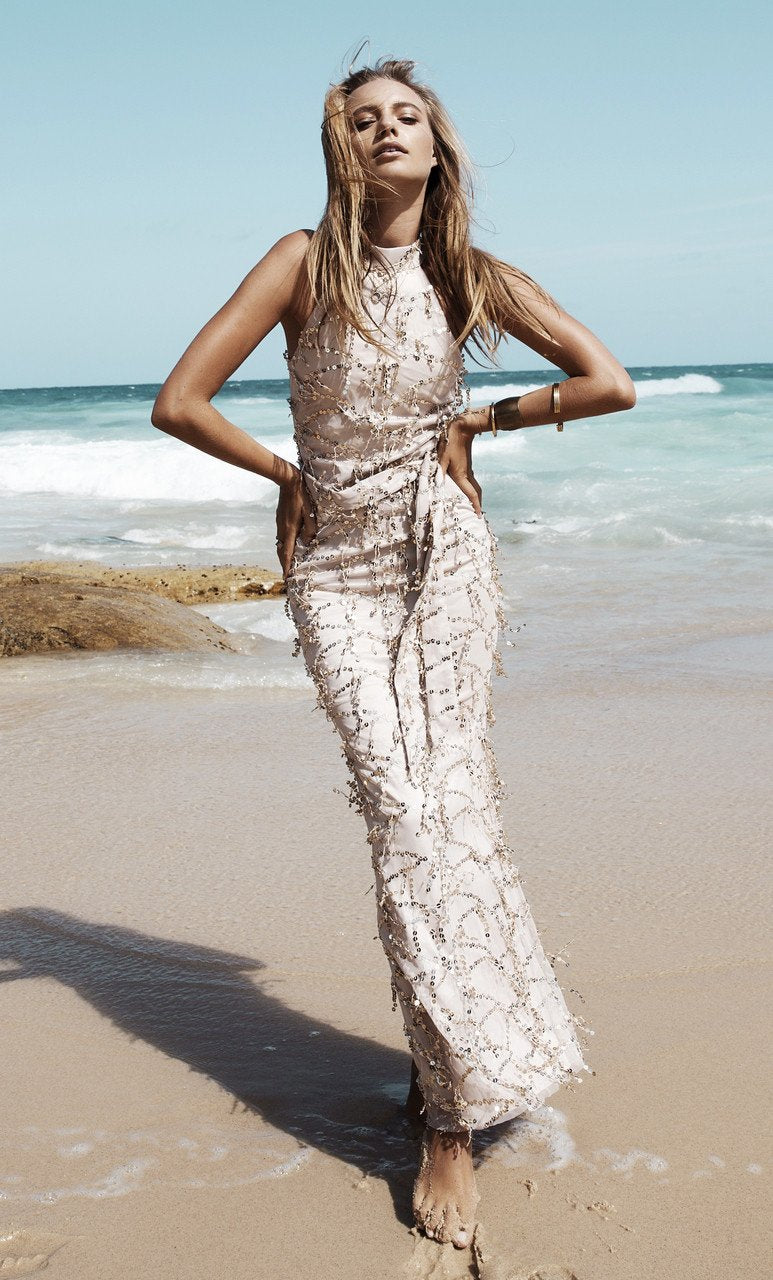 long sequin gown