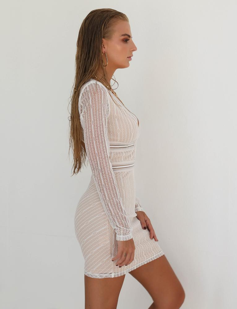long sleeve bodycon mini dress