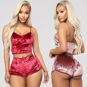 Monet Velvet Two Piece Set