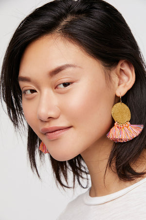 multicolor tassel earrings