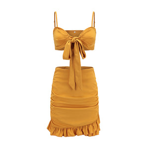 mustrd yellow two piece set