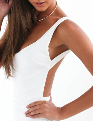 nairah white backless bodycon dress
