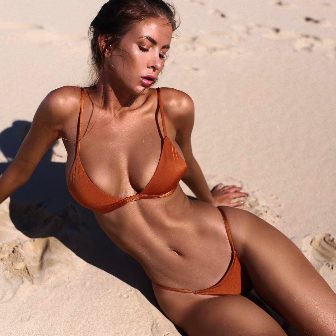 orange brazilian bikini