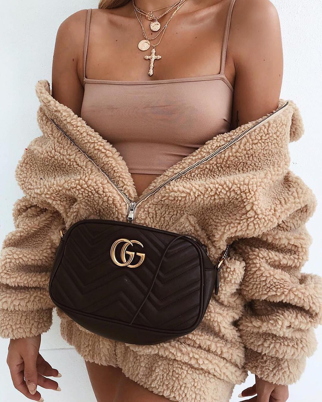 oversized fleece teddy bear coat