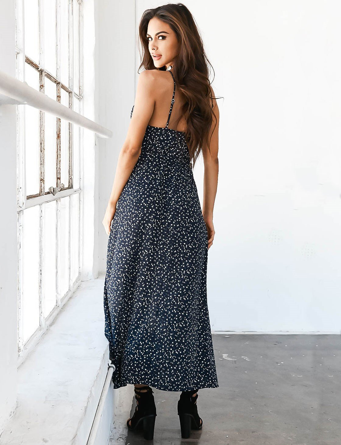parisa blue bohemian dress