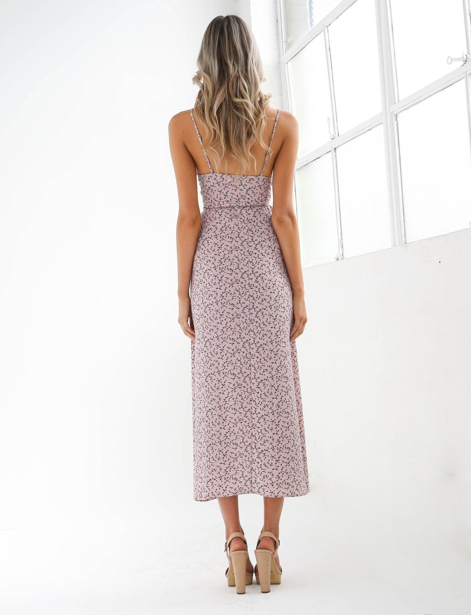 parisa blush bohemian dress