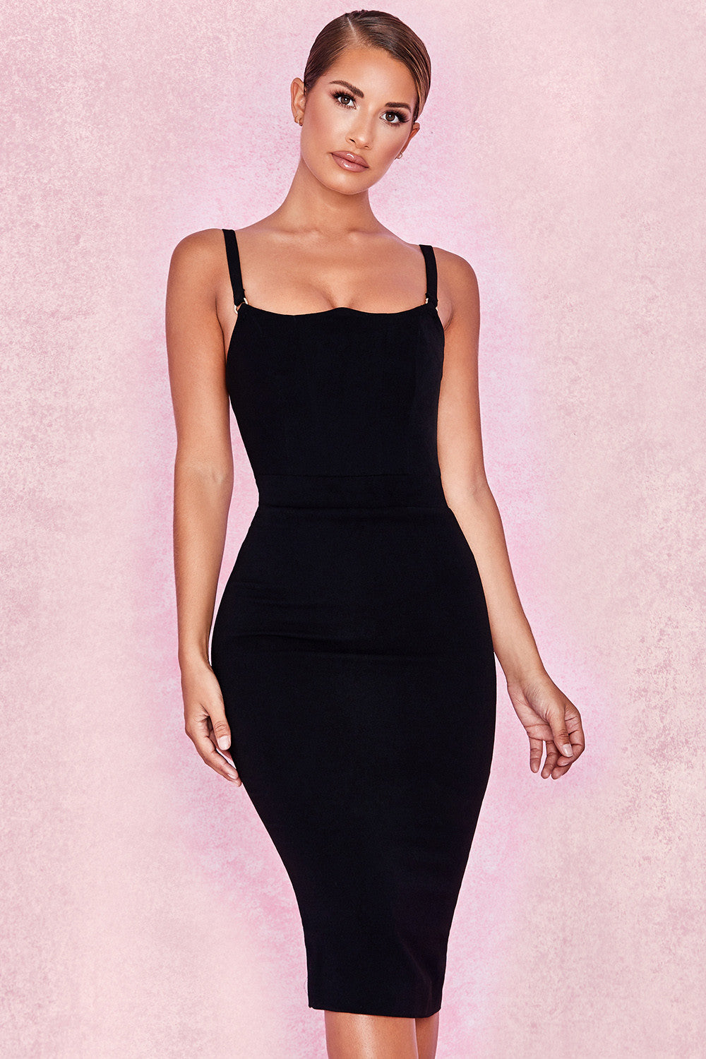 Pavlina Black Midi Dress