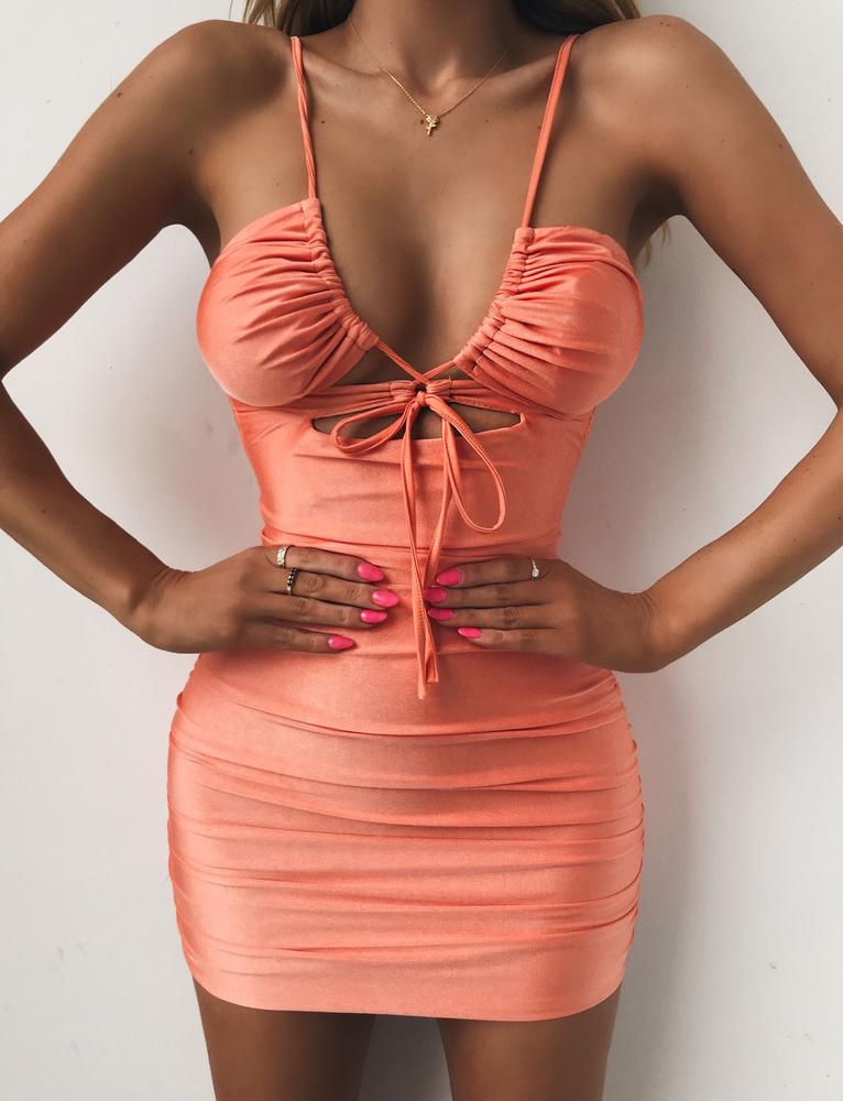 plunging neckline dress