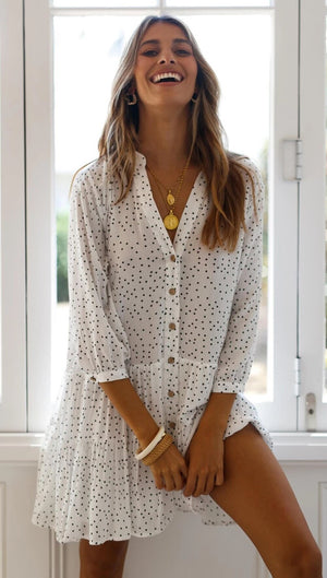 Lennan Polka Dot Shirt Dress