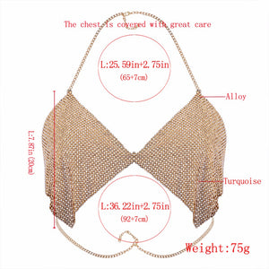 Calista Body Chain Bra