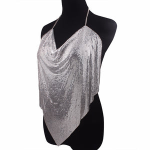 silver chainmail top