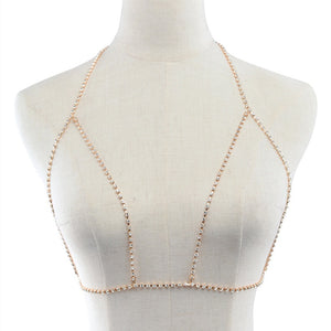 gold rhinestone body chain