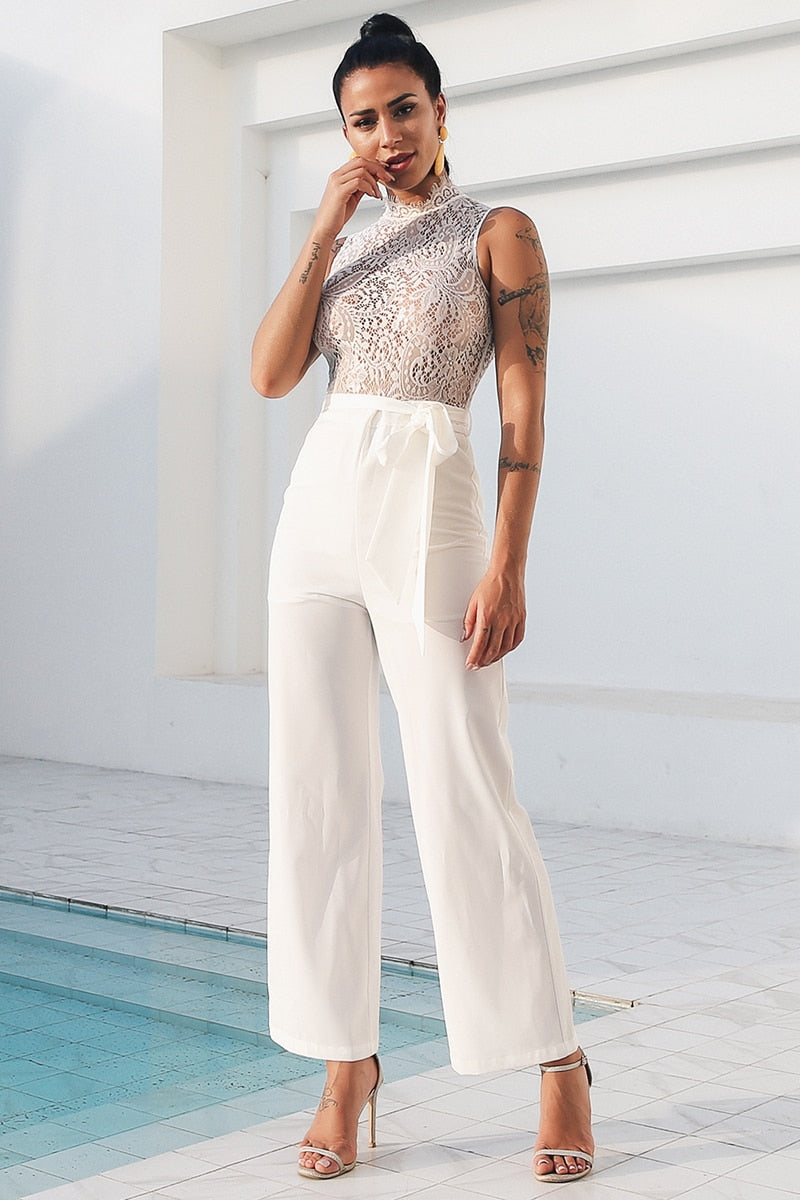Lucinda White Lace Jumpsuit