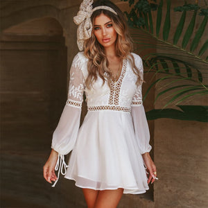 Lenora Long Sleeve Lace Dress
