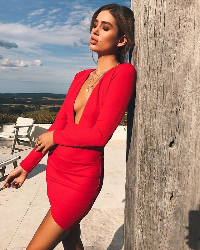 red mini dress - rayna