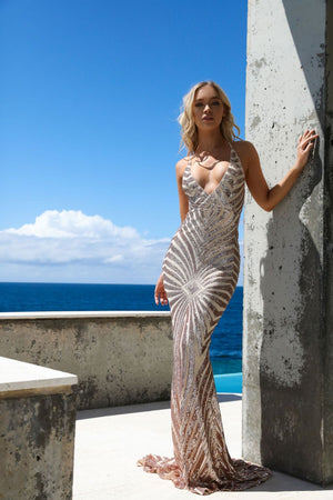 sequin mermaid gown