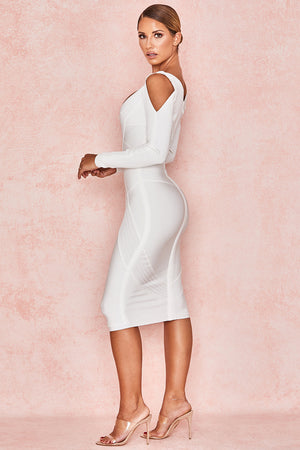 shoulder cut out bodycon dress