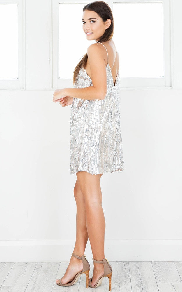 silver homecoming dress