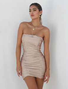 strapless mini dress