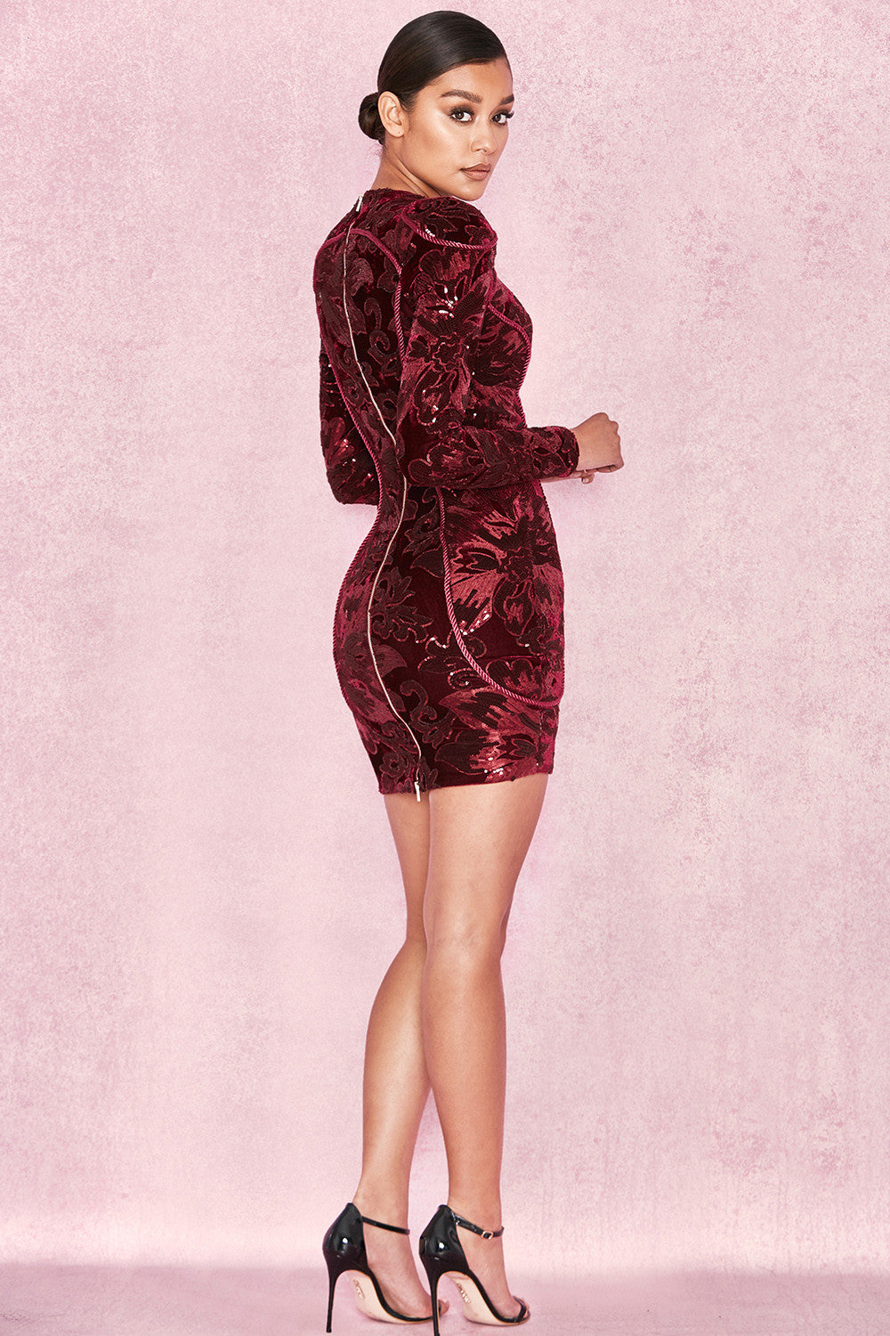 Talin Red Sequin Dress