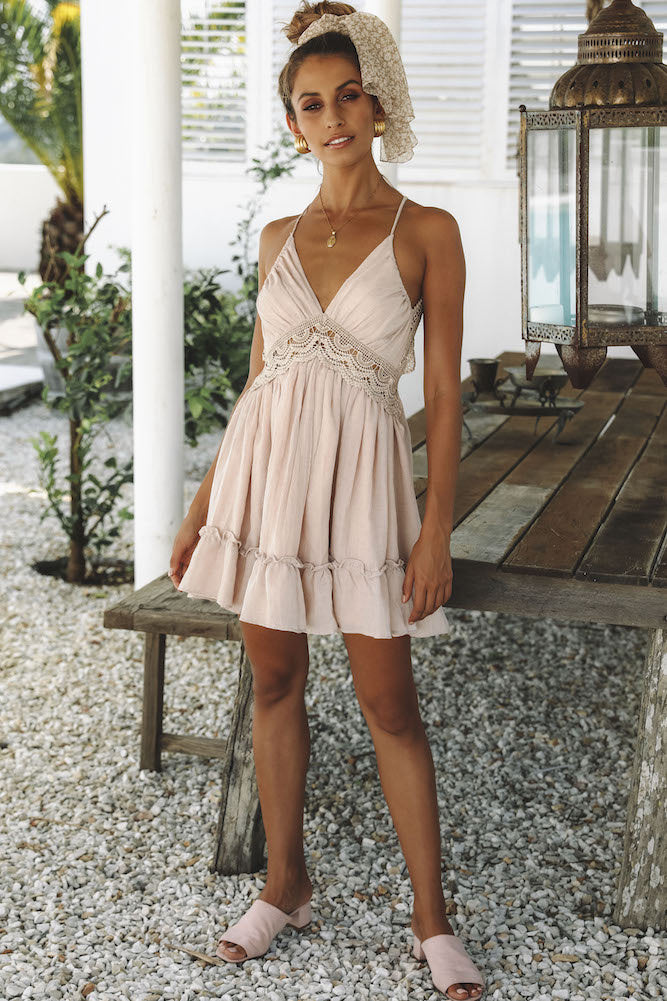 tan summer dress