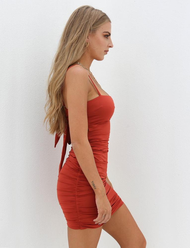 tie back bodycon dress