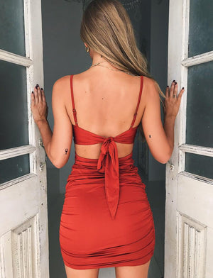 tie back dress