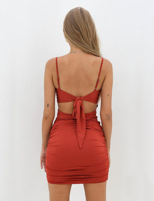 tie back mini dress