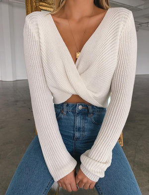 Catrine Twist Front Sweater