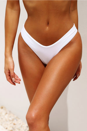 white high cut bikini bottoms