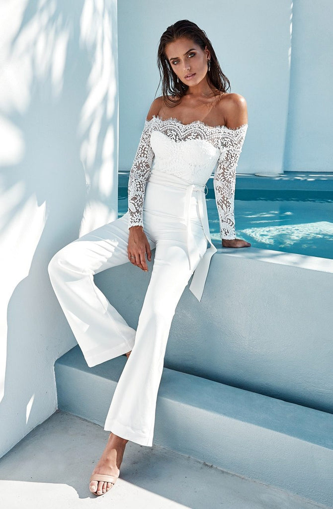 Geneva White Jumpsuit