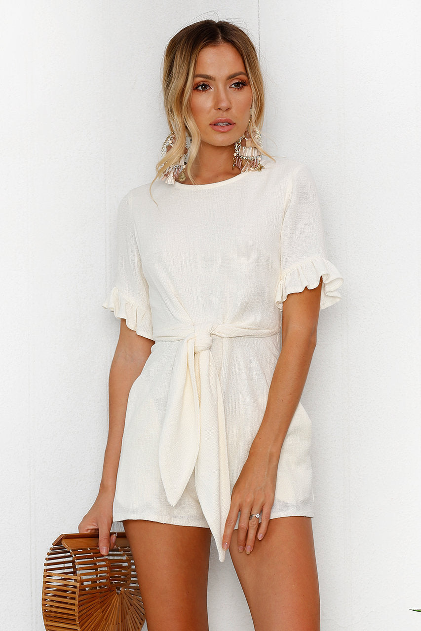 white romper dress