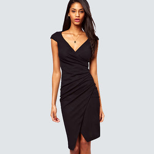 wrap dress black